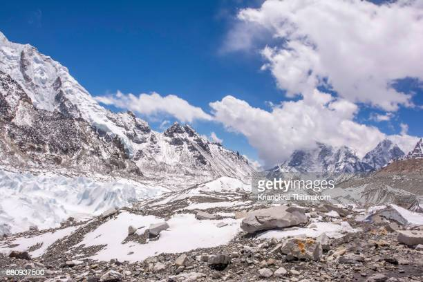 View of landscape at Everest Base Camp, Nepal.