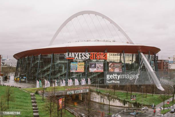 View of Lanxess arena in Cologne Germany on March 10 2020 Amid increasing the number of infections in Cologne will cancel most of events with more...