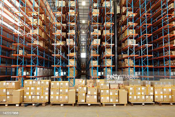 View of large distribution warehouse