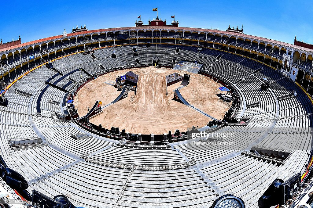 View of Las Ventas during qualifying for Red Bull X Fighter on June 23, 2016 in Madrid, Spain.