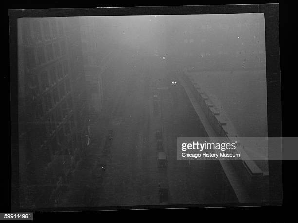 View of LaSalle Street north from Jackson Boulevard Chicago Illinois circa 1915