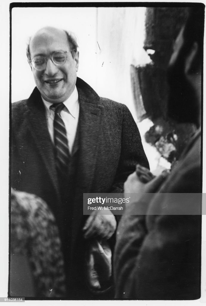 View of Latvian-born American painter Mark Rothko (1903 - 1970) as he attends an exhibition at Sidney Janis Gallery, New York, New York, March 6, 1961.