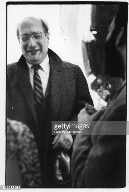 View of Latvianborn American painter Mark Rothko as he attends an exhibition at Sidney Janis Gallery New York New York March 6 1961