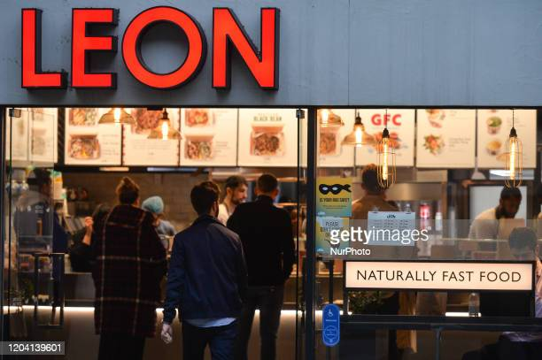 A view of Leon fast food restaurant in London center On Saturday 25 January 2020 in London United Kingdom