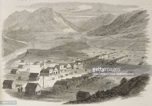 View of Lillooet British Columbia Canada illustration from the magazine The Illustrated London News volume XLV December 24 1864
