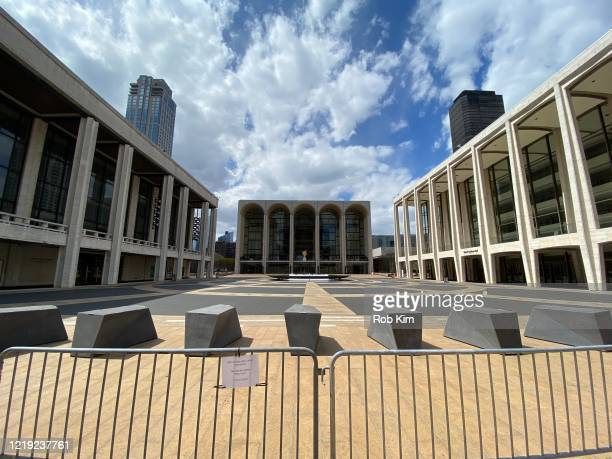View of Lincoln Center as it remains temporarily closed during the coronavirus pandemic on April 16, 2020 in New York City. Shelter-in-Place and...