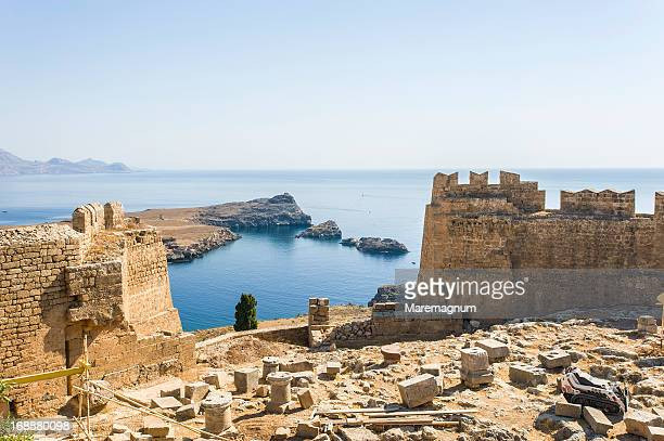 View of Lindos bay from Acropolis