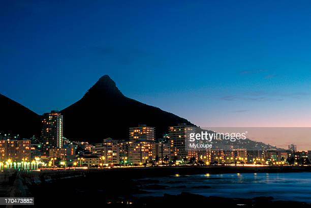 View of Lions Head Mountain in Cape Town from the Green Point district Cape Town Western Cape South Africa