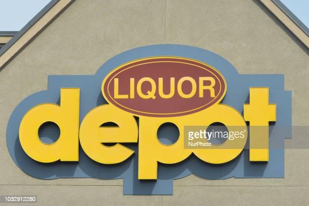 A view of Liquor Depot logo in Riverbend area of Edmonton On Tuesday September 11 in Edmonton Alberta Canada