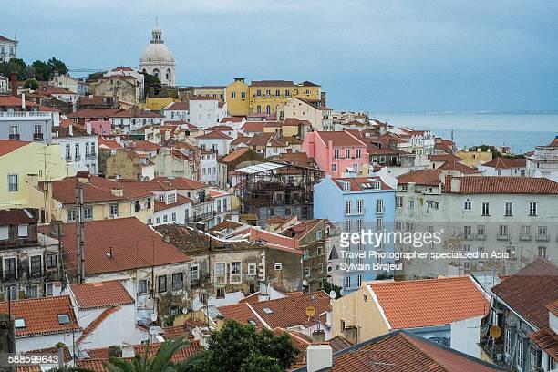 a view of lisbon city, lisbon portugal -  brajeul sylvain photos et images de collection