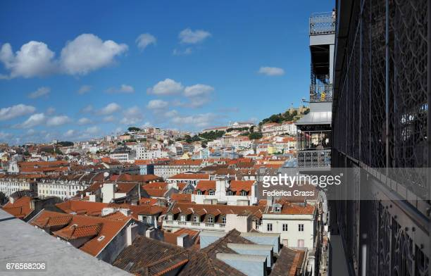 View of Lisbon from the Santa Justa Elevator, Portugal