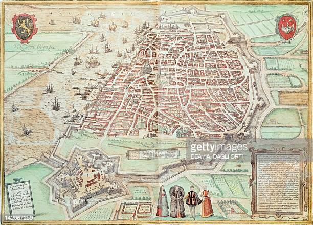 View of Lisbon Portugal 16th century