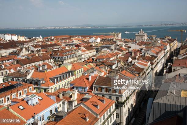 View of Lisbon Portugal from the Elevador