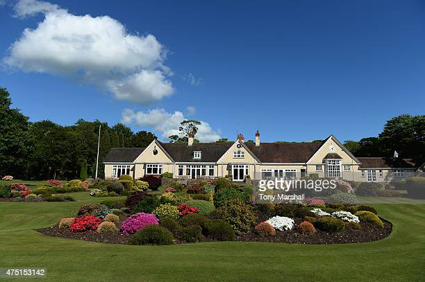 A view of Little Aston Golf Club clubhouse during The Lombard Trophy Midland Qualifier at Little Aston Golf Club on May 29 2015 in Sutton Coldfield...