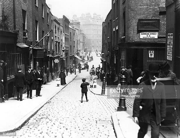 View of 'Little Italy', the area in London's East End where the Italian colony was located.