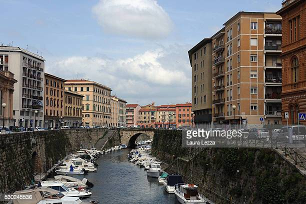 A view of Livorno with the homes rebuilt after the war where had the laboratory Amedeo Modigliani and where used to live Roberto Simoncini the man...
