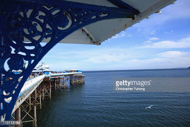 A view of Llandudno Pier opened in 1858 and is the longest pier in Wales on March 14 2011 in Llandudno United Kingdom This year British Tourism Week...