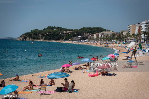 View of Lloret de Mar beach. Summer season in Lloret de Mar is being bad after the advices of some countries like Nederlands, France, UK or Belgium...