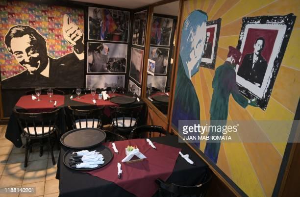 View of Lo de Nestor theme restaurant on Argentine former president Nestor Kirchner in Buenos Aires on November 21 2019
