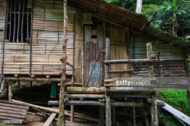 view of local penan settlement at bario, sarawak of malaysia. - shaifulzamri stock pictures, royalty-free photos & images