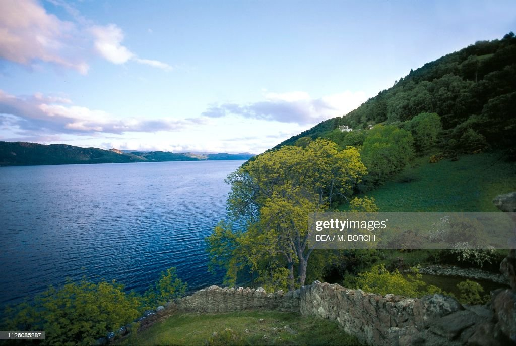 Loch Ness at sunset, Highlands, Scotland : News Photo