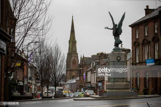 View of Lockerbie town centre on the morning of the 30th anniversary of the bombing of Pan Am flight 103 in Lockerbie, Scotland on December 21, 2018....