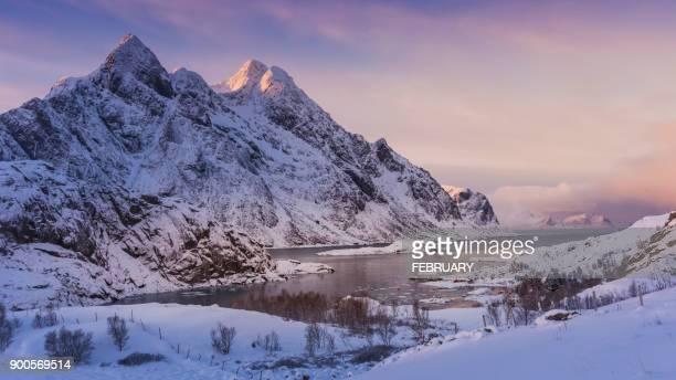 View of Lofoten in winter, Norway