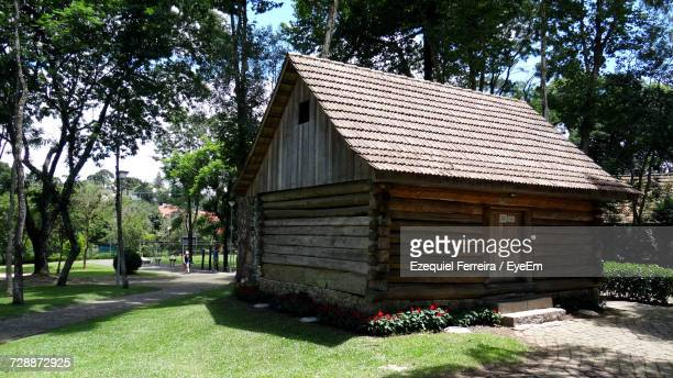 View Of Log Cabin