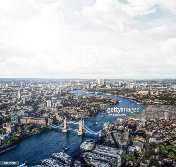 View of London along The Thames.