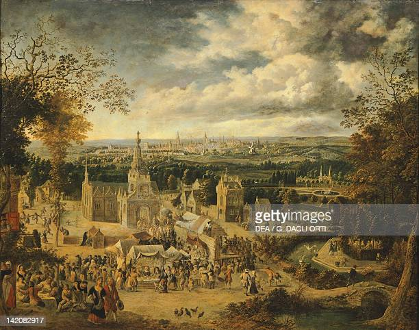 View of London and its surroundings by John Griffier England 18th century