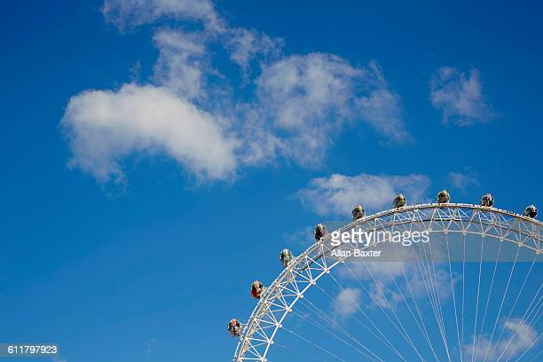 view of london at sunset - london eye stock pictures, royalty-free photos & images