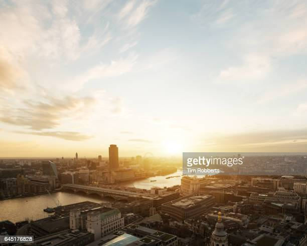 View of London at Sunset