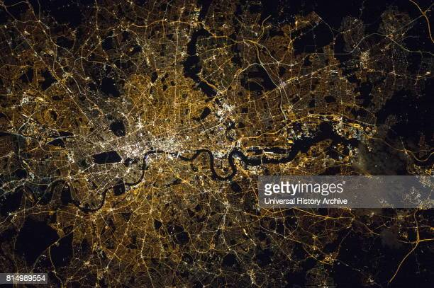 View of London by night Astronaut photograph taken from the International Space Station on September 27 2015