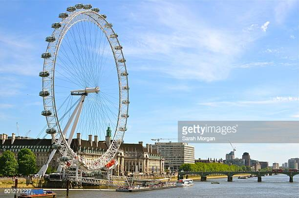 CONTENT] View of London Eye and Westminster Bridge and the River Thames
