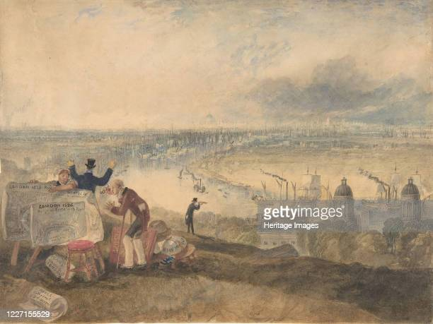 View of London from Greenwich 1825 Artist JMW Turner