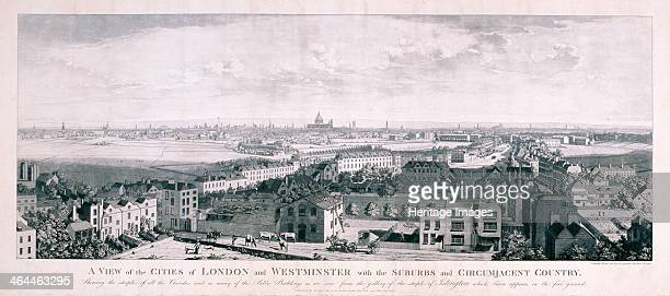 View of London from Islington 1789 View of Westminster and the City of London from Islington showing Church Street in the foreground Upper Street and...