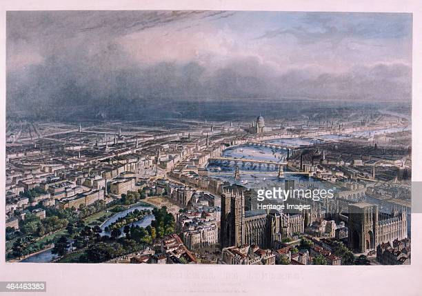 View of London from Westminster c1850 View of London looking northeast from Westminster showing the course of the River Thames In the foreground are...