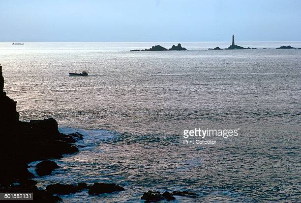 View of Longships Lighthouse from Lands End cliffs