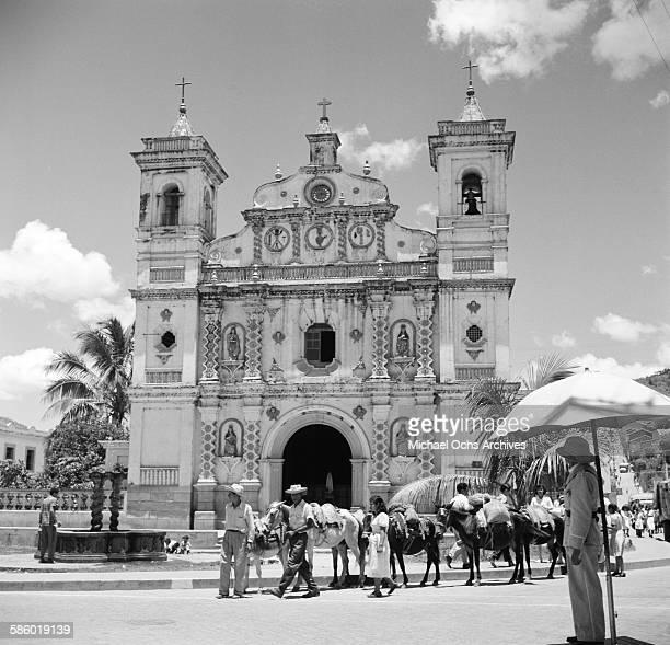 A view of Los Dolores Church in Tegucigalpa Honduras