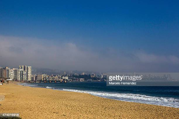 View of Los Marinos Beach on May 16 2015 in Vina del Mar Chile Vina del Mar will be one of the eight host cities of the Copa America Chile 2015