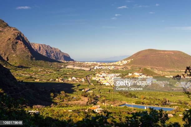 View of Los Silos town in foreground and Buenavista del Norte town in background (Tenerife island, Canary Islands)