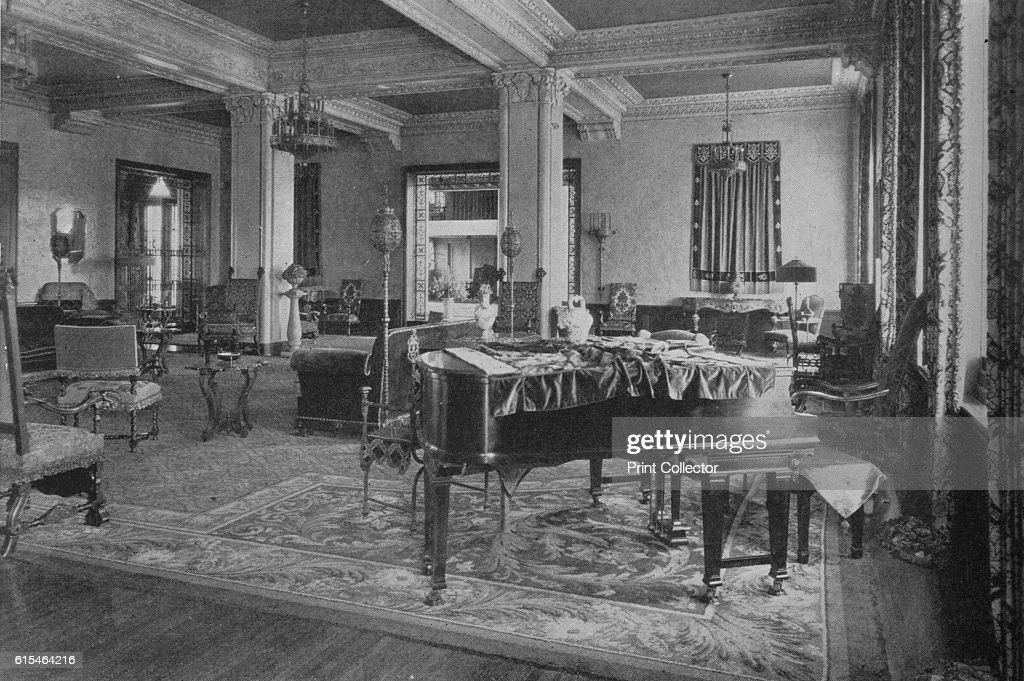 View Of Lounge Looking Towards Doorway Into Main Lobby Gaylord Apartments  Los Angeles California 1924 From