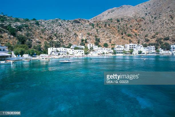 View of Loutro bay, island of Crete, Greece.