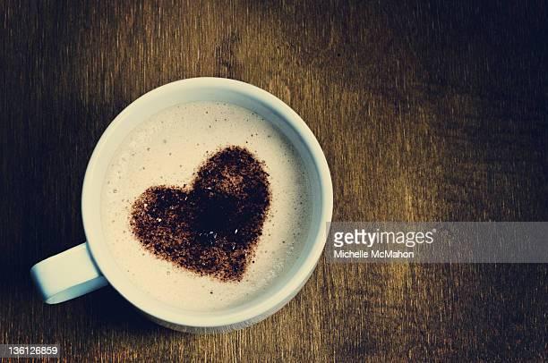View of love coffee