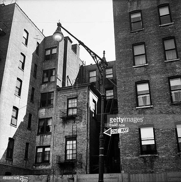 A view of Love Lane in Brooklyn Heights in March 1958 in New York City New York