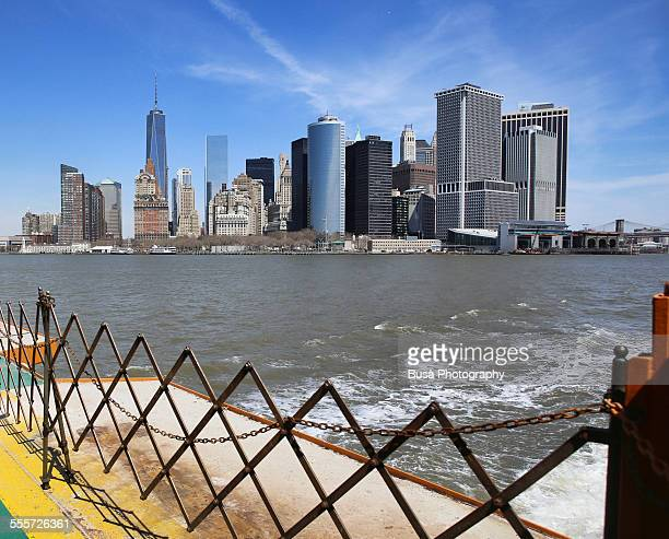 View of Lower Manhattan from Staten Island Ferry