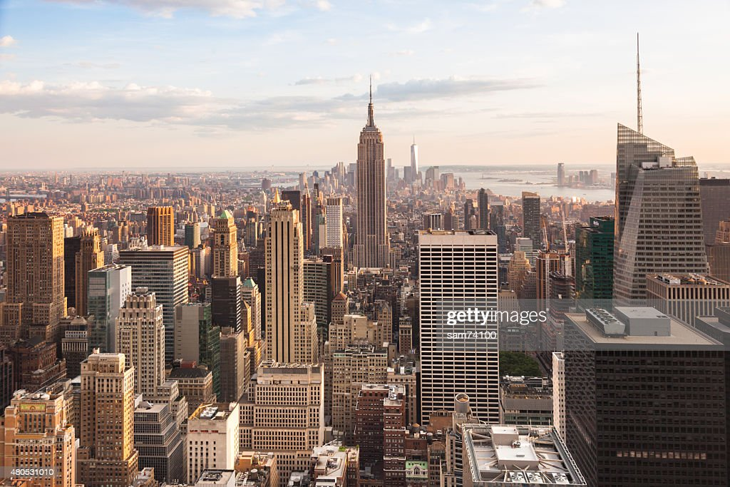 View of lower Manhattan in New York : Stock Photo