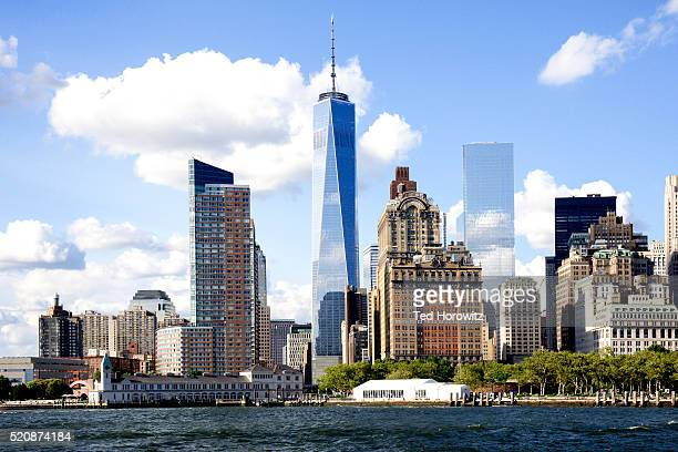 View of lower Manhattan with Freedom Tower.