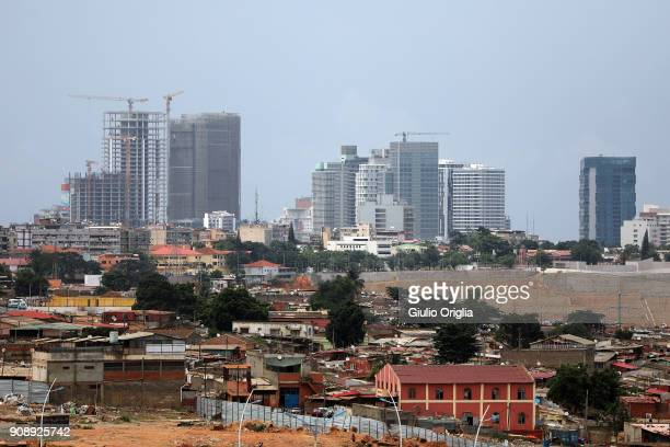 A view of Luanda on January 22 2018 in Luanda Angola Angola has vast mineral and petroleum reserves and its economy is among the fastestgrowing in...
