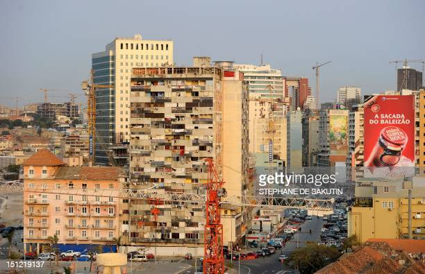 A view of Luanda's Central Business District taken on August 30 2012 The ruling Popular Movement for the Liberation of Angola party of President Jose...